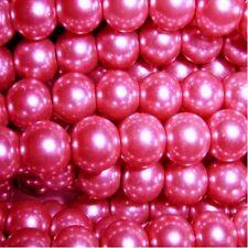 400 Pezzi 4mm vetro perle-rosa shocking-a0917-a