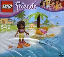 LEGO Friends in esclusiva-Set Andrea BEACH LOUNGE 30114 NUOVO 2014