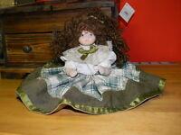 Bambola in porcellana  vintage 20 cm. porcelain doll -porzellanpuppe