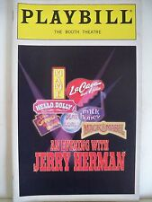 AN EVENING WITH JERRY HERMAN Playbill LEE ROY REAMS / FLORENCE LACEY NYC 1998