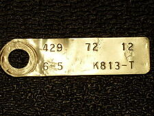 FORD 429 4V 1972 ID ENGINE BLOCK TAG FACTORY ORIGINAL,CARS,TRUCKS