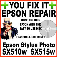 Epson Stylus SX510w & SX515w Printer:  Service Required Fault Reset Disc