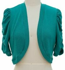Ruched Short Sleeve Cropped Bolero/Shrug Top *Select From 6 Colors-S/M/L/XL*