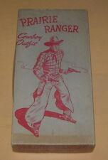 VINTAGE  PRAIRIE RANGER  COWBOY OUTFIT  EMPTY BOX  1950'S  DRESS UP