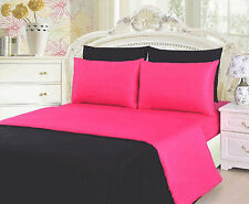 SkylineWears Egyptian Cotton 3 Piece Solid Colors Duvet Cover Sets Pillowcases