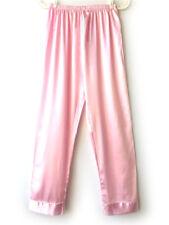 Women Girl Nightwear Sleepwear Bath Pajamas Satin Silk Long Lounge Pants Pyjamas