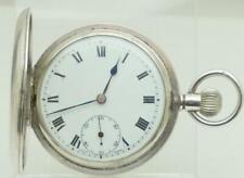 Gentleman's Antique Stunning Swiss .925 Silver Cased Full Hunter Pocket Watch.