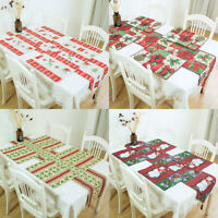 Christmas Table Cloth Plate Mat Dinning Mat Runner Tablewear Home Party Decor