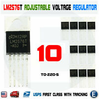 10pcs LM2576T-ADJ LM2576 IC Adjustable Voltage Switching Regulator Step Down USA