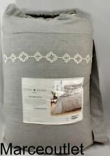 Lucky Brand Tile Seed Stitch Full / Queen 3 Piece Comforter Set Grey