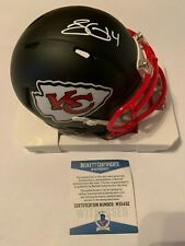 Sammy Watkins Autographed KC Chiefs Black Speed Mini Helmet Beckett COA