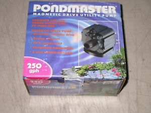 Pondmaster  250 GPH Magnetic Drive Utility Water Pump Ponds Etc.