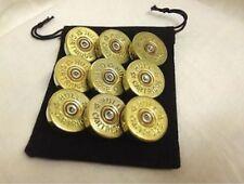 4 x Shotgun 12g Brass Sew On buttons Military Steampunk Costume
