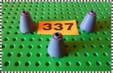 337 Lego 3942 c dark bluish grey Cone 2 x 2 x 2-Completely Open Stud X 3 pc.