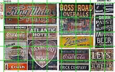 NH015 DAVE'S DECALS 1/2 Set N SCALE GHOST SIGNS DRY GOODS CLOTHES HOTEL SODAS
