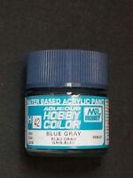 GUNZE SANGYO MR HOBBY AQUEOUS COLOR COLORE GLOSS BLUE GRAY BLU GRIGIO 10 ml  H42