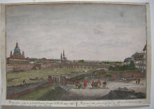 Optical view visionneuse feuille Dresde probst Canaletto Orig CUIVRE pli 1750