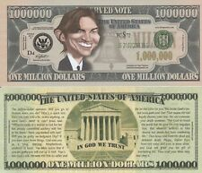 Ashton Kutcher Caricature Million Dollar Tract Funny Money Novelty Note + SLEEVE