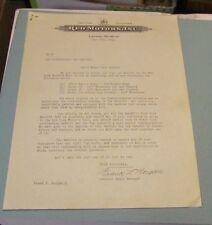 1940 REO Motor Car Company New York World's Fair Exhibit Plans Dealer Letter