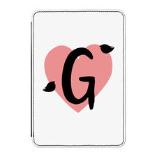 "G Heart Alphabet Case Cover for Kindle 6"" E-reader - Valentines Day Girlfriend"