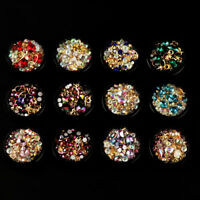 3D Nail Art Manicure DIY Rhinestones Crystal Gems Mixed Glitter Decoration Tips