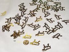 Wedding Table Scatters Confettii Just Married - Gold BUY 1 GET 1 FREE