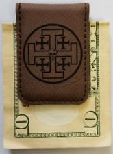 CIA NCS War Zone Service Benghazi Libya AFRICA Dark Brown Leather Money Clip