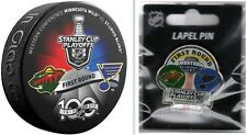 2017 NHL PLAYOFFS PUCK & PIN TEAM 1ST ROUND MINNESOTA WILD VS. ST. LOUIS BLUES
