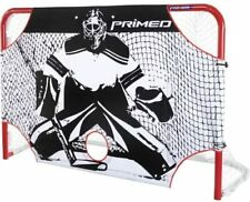 "PRIMED FULL SIZE GOALIE Hockey Target Shot 72"" Net Goal Skill Shooting Practice"