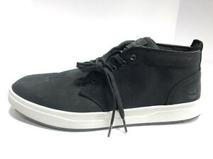 Timberland Davis Square Black Leather Lace Up Shoes Men's Size 14M Casual
