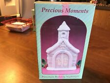 1994 Enesco Precious Moments Porcelain Chapel Night Light New in Box