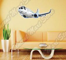 "Plane Airplane Jet Aircraft Airliner Wall Sticker Room Interior Decor 25""X14"""