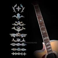 19Fret Guitar Bass Inlay Sticker Fretboard Fret Decal Decoration Markers Silver