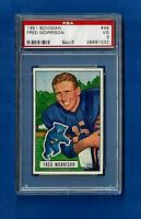 1951 BOWMAN FOOTBALL CARD # 49 FRED MORRISON PSA 3 VG CHICAGO BEARS