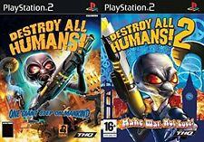 destroy all humans 1&2     PAL FORMAT  PS2