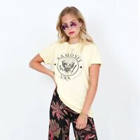Daydreamer Butter Cream Ramones Band Tee T Shirt Size XS Revolve Free People
