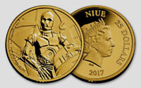 2017 Star Wars Classic: C-3PO 1/4 oz Gold Coin!!! MINTAGE 1,000!!