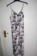 M&S Sleeveless Strappy Satin Nightdress Black Mix Size UK 6 EUR 34 BNWT