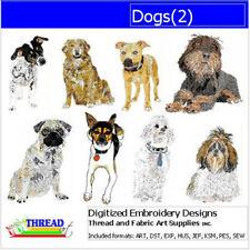 Embroidery Design CD - Dogs(2) - 8  Designs - 9 Formats - Threadart