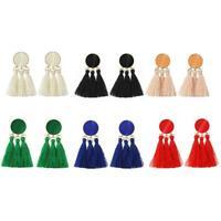 Women's Fashion Jewelry New Gift Tassel Ethnic Dangle Eardrop Gold Stud Earrings