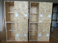 "4 X COCKATIEL NEST BOXES WITH PORCH/CRECHE FOR BREEDING 8""X8""X13"" / 13.5""X13""X8"""