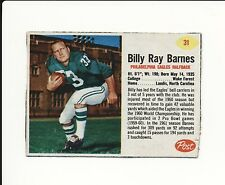 1962 POST CEREAL HAND CUT #31 BILLY RAY BARNES