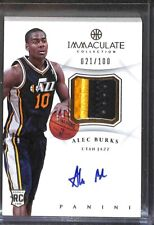 2012-13 Panini Immaculate Patch Autograph #AP-BU Alec Burks No 21 of 100