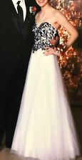 Cecily Brown, prom dresses, long, black and white, size xs.