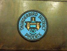 Vintage Thunderbird District Phoenix Boy Scouts Iron On Patch Badge