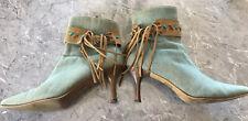 Pierre Fontaine High Heeled Denim Boots. Size 9 AUS.
