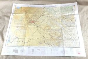 1955 Vintage Map of Nairobi Kenya East Africa British Military War Office Issue
