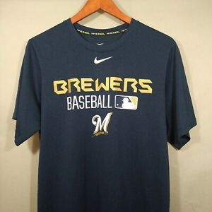 Nike Dri-FIT Authentic Collection Milwaukee Brewers Batting Practice Shirt