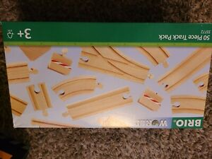 Brio 33772 50 Piece Track Pack 3+ NEW Large / Small Straights Switches Curves