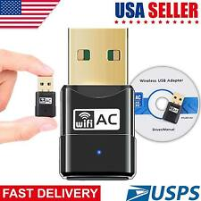 USB Dual Band Wifi Dongle 6000Mbps 2.4GHz 802.11AC Wireless Network Adapter US